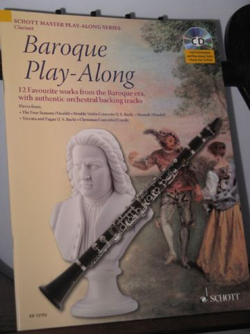 Baroque Play-Along for Clarinet with Authentic Orchestral Backing Tracks